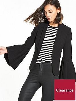 v-by-very-premium-fluted-sleeve-blazer
