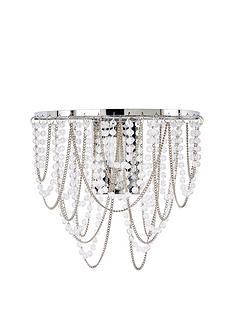 Sienna Beaded Metal Chain Wall Light