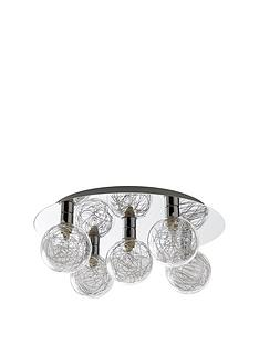 palermo-tinsel-flush-5-light-ceiling-light