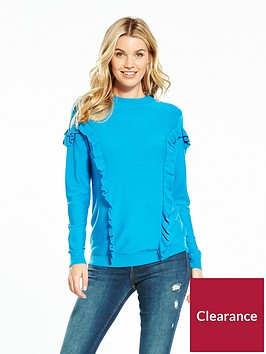v-by-very-crew-neck-frill-detail-jumper-blue