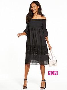 max-edition-sheer-panel-dress