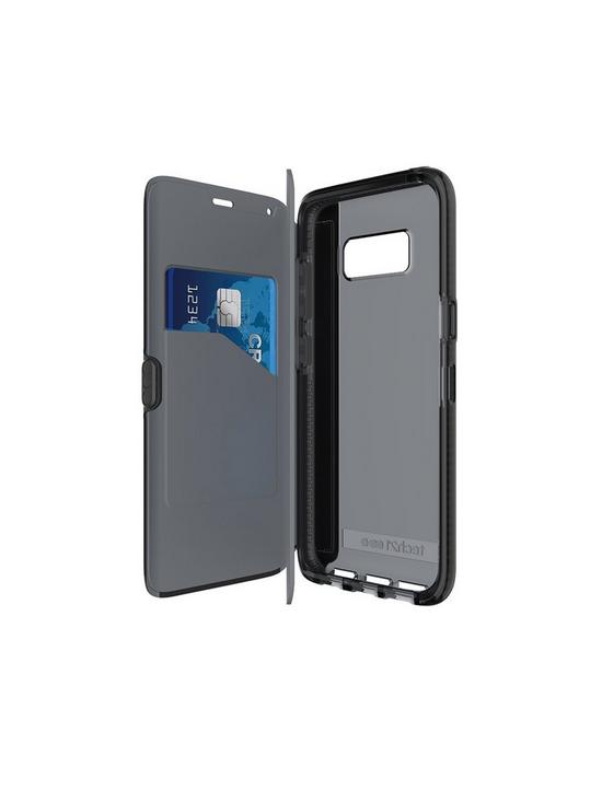 big sale 1745e d6c60 Evo Wallet with Card Storage & Flip Cover for Samsung Galaxy S8 - Black
