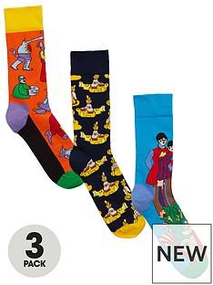 happy-socks-3pk-the-beatles-sock
