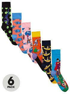 happy-socks-6pk-the-beatles-sock