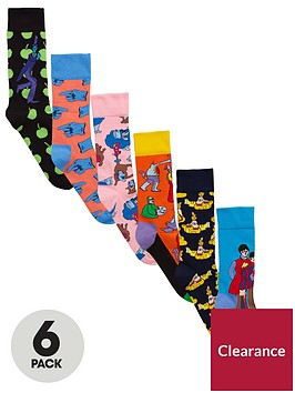 happy-socks-6pk-the-beatles-sock