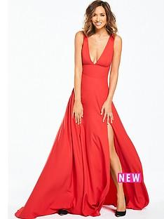 myleene-klass-plunge-front-maxi-dress