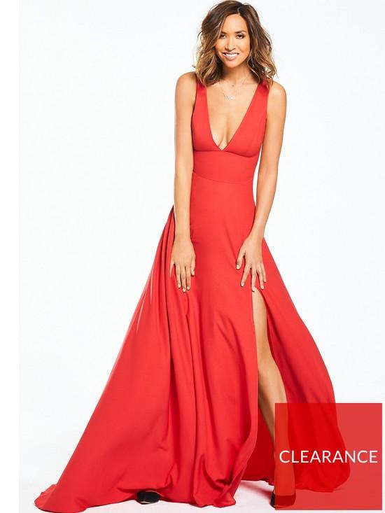 e7a79469e7 Myleene Klass Plunge Front Maxi Dress