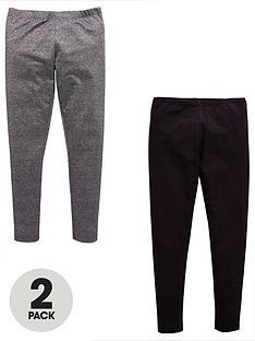 v-by-very-2pk-blackglitter-leggings