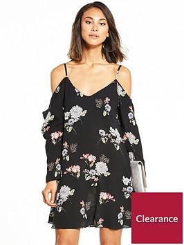 ax-paris-cold-shoulder-swing-dress