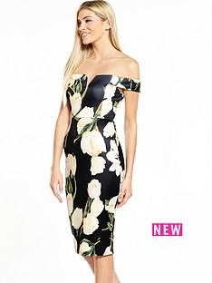 ax-paris-bardot-printed-midi-dress