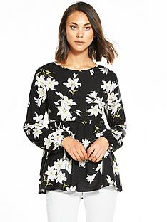 ax-paris-frill-hem-floral-top
