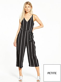 ax-paris-petite-stripe-jumpsuit-black