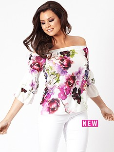 jessica-wright-flissy-white-bardot-floral-top