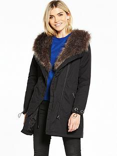 v-by-very-drape-faux-fur-parka