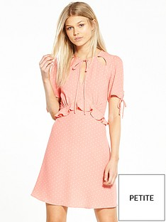 miss-selfridge-petite-spot-tea-dress