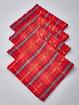 tartan-fabric-christmas-napkins-4-pack