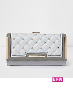 river-island-river-island-quilted-and-stud-clip-top-purse