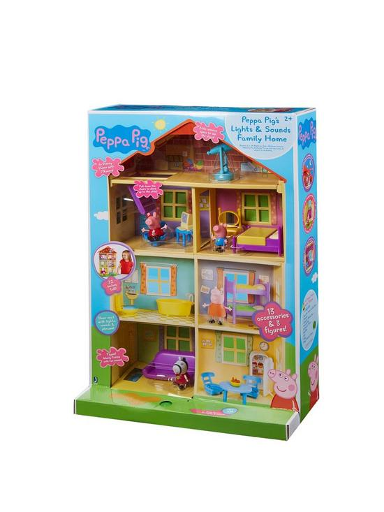 Peppa pig peppa pig lights sounds family home playset very fandeluxe Images
