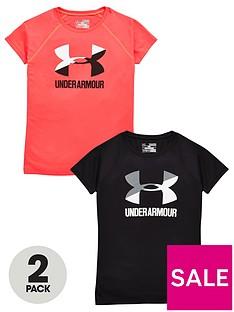 under-armour-girls-pk-of-2-big-logo-tee