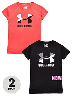 under-armour-under-armour-girls-pk-of-2-big-logo-tees