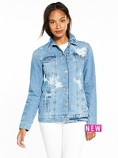 miss-selfridge-embroidered-denim-jacket