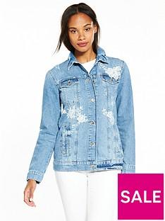 miss-selfridge-embroidered-denim-jacket