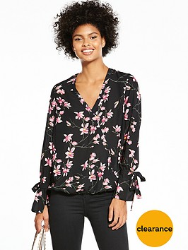 v-by-very-floral-tie-sleeve-wrap-blouse