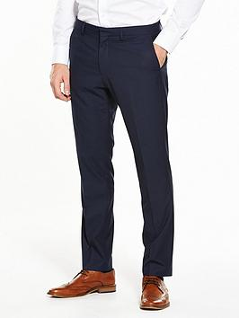 Photo of V by very mens slim fit check suit trouser