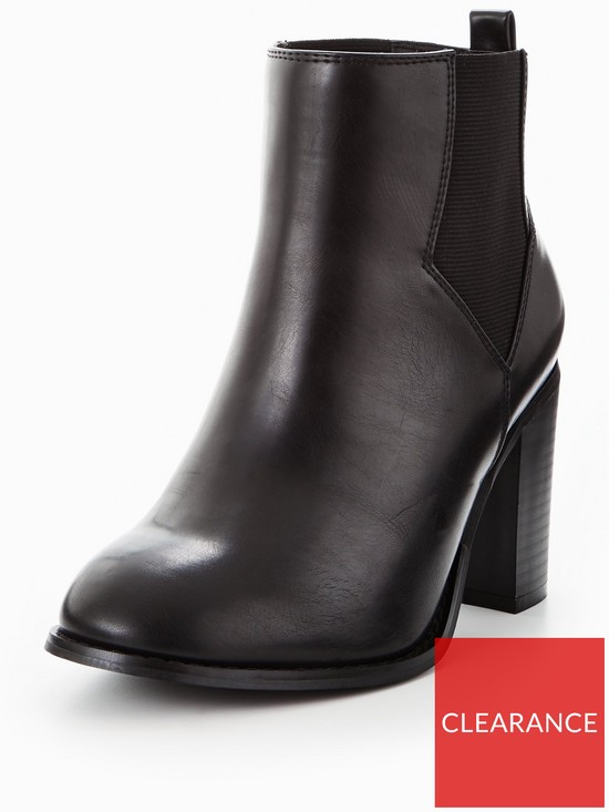 8474e0daf95 V by Very Penny Extra Wide Fit Heeled Chelsea Boot Black