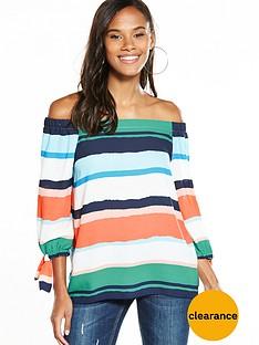 wallis-painted-stripe-bardot-top