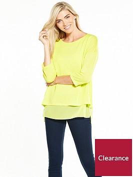 wallis-chiffon-knit-jumper