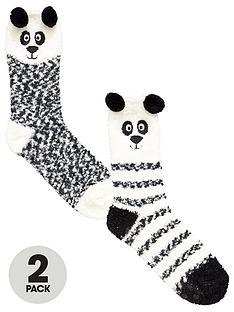 totes-2-pack-cosy-panda-socks