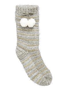 totes-lurex-stripe-sock