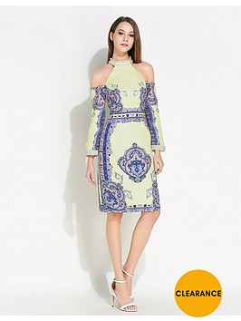 comino-couture-cold-shoulder-beaded-dress