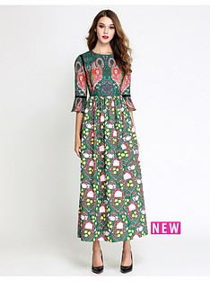 comino-couture-multi-print-flamingo-maxi-dress