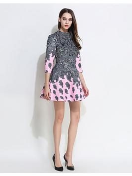Comino Couture Cpink Feather Dress