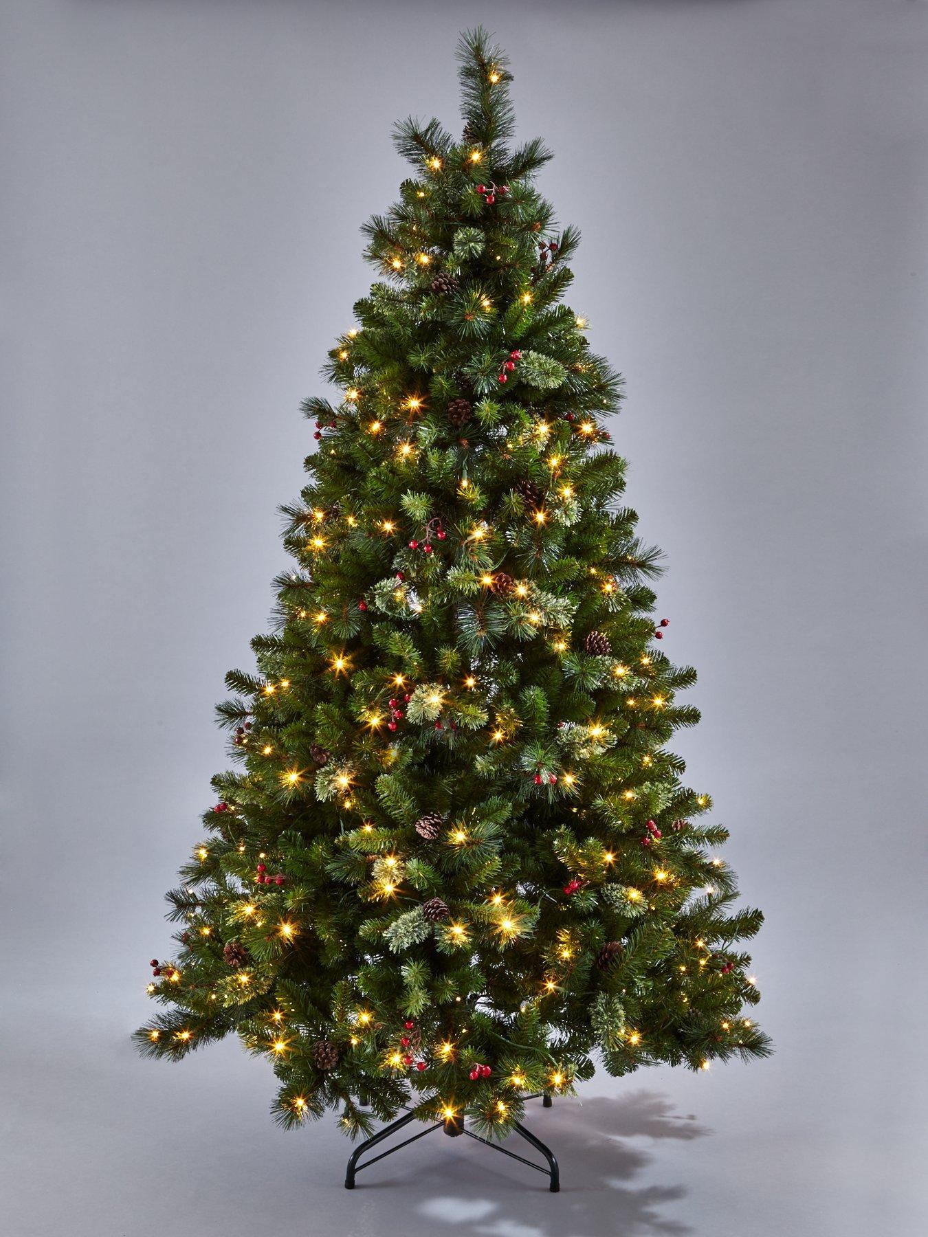 7ft Brookfield Pre-lit Christmas Tree | very.co.uk