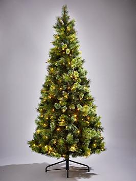 killington pine slim pre lit christmas tree 6ft - Christmas Tree Slim