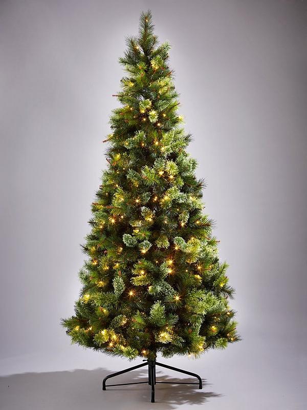 Slim Christmas Tree.Killington Pine Slim Pre Lit Christmas Tree 6ft