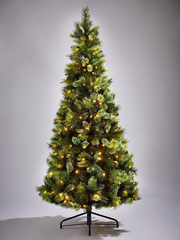 Slim Christmas Tree.Killington Pine Slim Pre Lit Christmas Tree 7ft