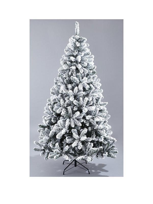 7ft Christmas Tree.7ft Flocked Emperor Christmas Tree