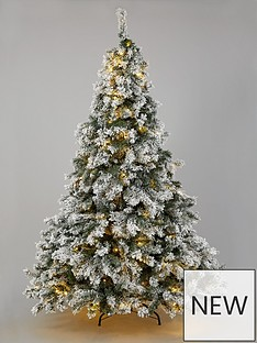 7ft-flocked-pre-lit-downswept-pine-tree