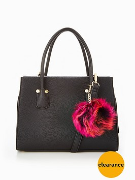 v-by-very-mini-tote-with-pom-pomsnbsp--black