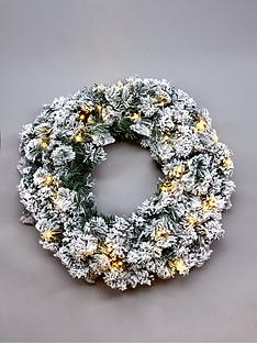 pre-lit-flocked-emperor-christmas-wreath