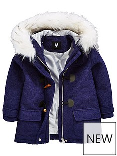 v-by-very-girls-zip-detail-duffle-christmas-coat-with-faux-fur-hood