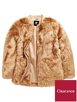 v-by-very-girls-faux-fur-long-line-coat