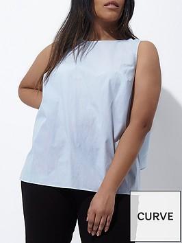 ri-plus-stripe-tie-back-sleeveless-top