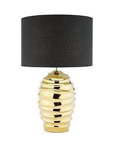 layla-gold-ripple-ceramic-table-lamp