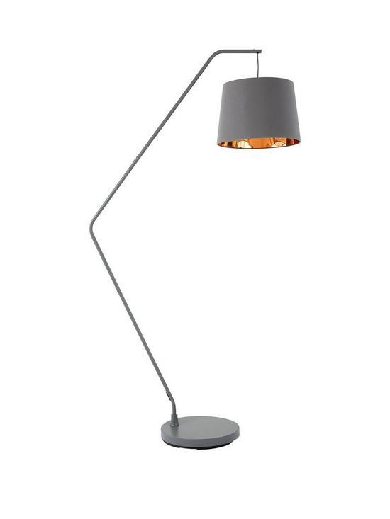 Hendrix angular grey gold floor lamp very aloadofball Choice Image
