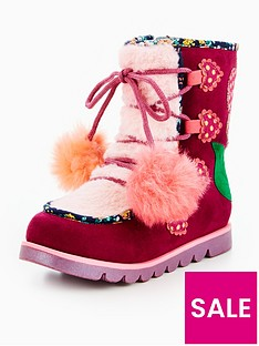 irregular-choice-irregular-choice-girls-mini-warmer-pom-pom-snow-boot